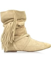 Jérôme Dreyfuss - Arizona Sand Suede Firnged Boot - Lyst