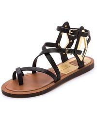 Dolce Vita Ferrah Sandals - Black - Lyst