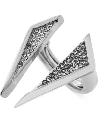 Vince Camuto - Crystal Triangle Open Centre Ring - Lyst