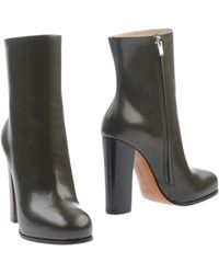 Celine Green Ankle Boots - Lyst
