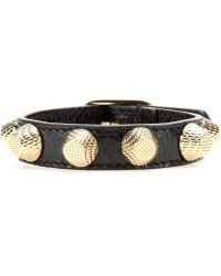 Balenciaga Giant Stud Leather Bracelet - Lyst