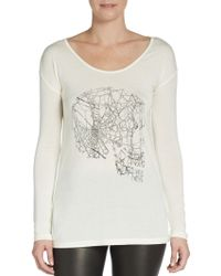 Haute Hippie Dropped Shoulder Graphic Tee - Lyst