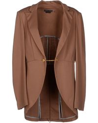 Alice + Olivia Brown Blazer - Lyst