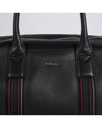 Paul Smith - Men'S Black Pebble Embossed Leather 'City Webbing' Holdall - Lyst