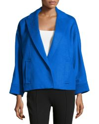Alice + Olivia Leah Cropped Cocoon Coat - Lyst