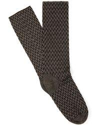 Haider Ackermann Chevron-knit Wool Socks - Lyst
