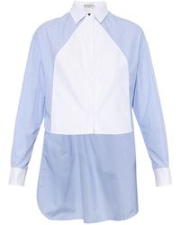 Balenciaga Step-Hem Contrast-Panel Cotton Shirt - Lyst