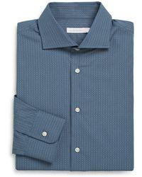 J. Lindeberg Printed Cotton Poplin Dress Shirt - Lyst