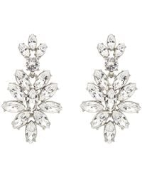 Oscar de la Renta Swarovski Navette Drop Earrings - Lyst