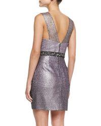 Phoebe - Sleeveless Beaded-waist Cocktail Dress - Lyst