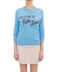 Alexander Lewis - Welcome To Palm Springs Sweater-Blue Size Xs - Lyst