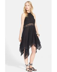 Free People 'Go Lightly' Sheer Gauze Dress black - Lyst
