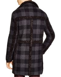John Varvatos - Collection Check Wool-cashmere Coat - Lyst