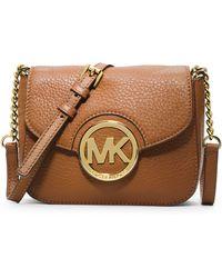 MICHAEL Michael Kors Fulton Leather Small Crossbody Bag - Lyst