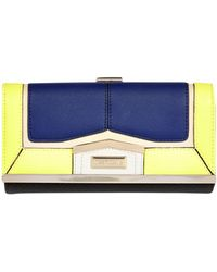River Island Navy Colour Block Clip Top Purse - Lyst