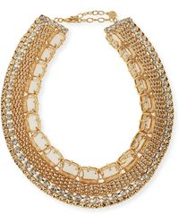 R.j. Graziano - Crystal Cleopatra Necklace - Lyst