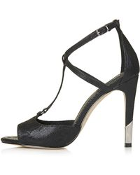 Topshop Regal Strappy Heels - Lyst