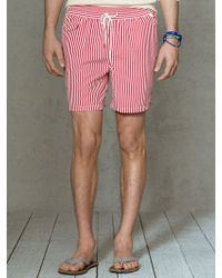 Polo Ralph Lauren Traveler Striped 6 Swim Trunk - Lyst