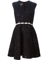 Giambattista Valli Embroidered Flared Dress - Lyst