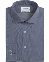 Calvin Klein Slim Fit Micro Stripe Performance Dress Shirt - Lyst