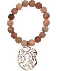 Rita & Zia - Agate Lion Bracelet - Lyst