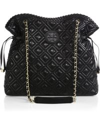 Tory Burch Marion Quilted Slouchy Tote - Lyst