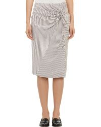 Band Of Outsiders Knotfront Skirt - Lyst