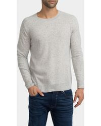 White + Warren - Mens Cashmere Rib Shoulder Crewneck - Lyst