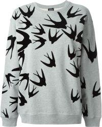 McQ by Alexander McQueen Swallow Appliqué Sweatshirt - Lyst