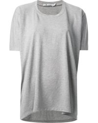 T By Alexander Wang Draped Loose Fit T-Shirt - Lyst