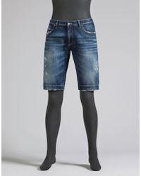 Dolce & Gabbana | Stonewashed Denim Bermuda Shorts | Lyst