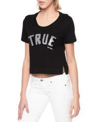 True Religion True Sequin Crew Tee - Lyst