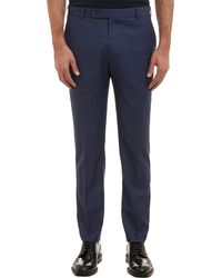 Brooklyn Tailors Blue Creasedleg Trousers - Lyst