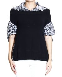 Moschino Sweater Neck Boat with Finta Shirt Vichy - Lyst