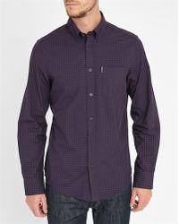 Ben Sherman Black/burgundy Rock Check Shirt black - Lyst