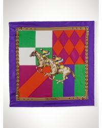 Ralph Lauren Silk Equestrian Scarf - Lyst
