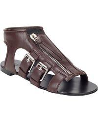 Giuseppe Zanotti Rollerbuckle Flat Sandals - Lyst