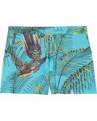Matthew Williamson - Songbird Printed Crepe Shorts - Lyst