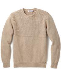 Inis Meáin Fisherman Gansey Sweater beige - Lyst