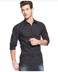 Guess Triangle-print Shirt - Lyst