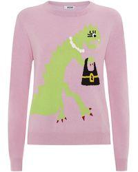 Moschino Cheap & Chic Cashmere Dinosaur Sweater - Lyst