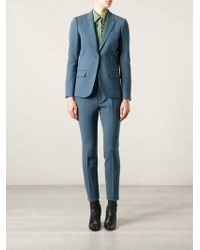 Gucci Blue Two-piece Suit - Lyst