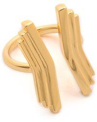 Gorjana - Downtown Layered Ring Gold - Lyst