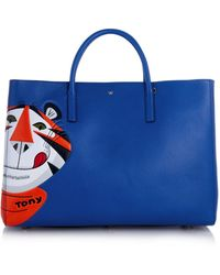 Anya Hindmarch Frosties Maxi Featherweight Ebury Tote blue - Lyst