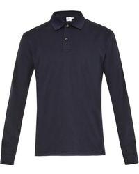 Sunspel Long-Sleeved Cotton Jersey Polo Shirt - Lyst