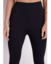 Missguided Jersey Skinny Flare Pants Black - Lyst