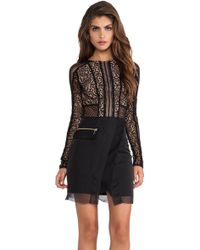 Three Floor La Noir Dress - Lyst