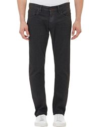 Ralph Lauren Black Label Coated Denim Jeans gray - Lyst