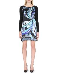 Emilio Pucci Silk-Panel Knitted Dress - Lyst