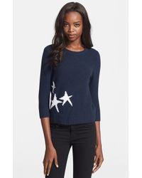 Autumn Cashmere Starfish Intarsia Knit Cashmere Sweater - Lyst